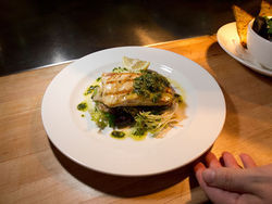 The Kitchen&#039;s char-grilled sturgeon is revelatory.