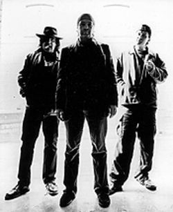 Creatures' features: Jaz Coleman (from left), Youth  and Geordie of Killing Joke.