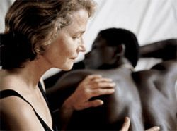 Charlotte Rampling satisfies her jungle fever with  Ménothy Cesar.