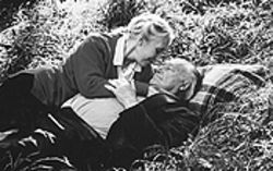 The old roll in the hay: Julia Blake and Charles Tingwell act their age in Innocence.