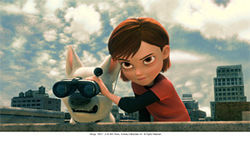Bolt and Penny in the new Disney flick Bolt.
