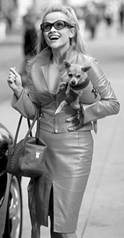 Reese Witherspoon is a fashion hound in Legally Blonde.