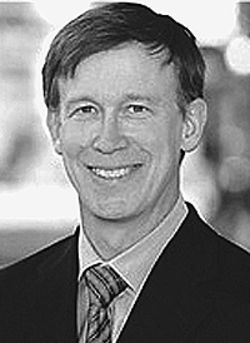 Come what mayor: John Hickenlooper cites DIA as a  major development.