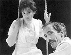 Gordana Rashovich and John Hutton in Uncle Vanya.