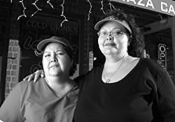 The sisters: Katherine and Regina Chavez gave  Anthony Rodriguez Jr. a home and a job.