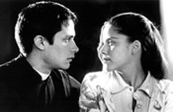 Holy love: Gael García Bernal and Ana Claudia Talancón in El Crimen del Padre Amaro.