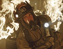 A real hottie: Joaquin Phoenix gets big air in Ladder  49.