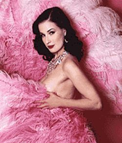 Dita Von Teese is ready to please, barely.