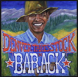 Artist Cassandra Cole takes stock in Barack Obama.