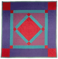 """Diamond in the Square,"" quilt by Barbara Fisher."