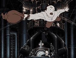 Anime all the way: A character in Steamboy  takes off, even if the film doesn't.