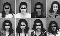 After collecting eight mug shots from Denver police 