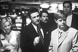 Roll 'em: Maria Bello, Alec Baldwin and William H.  Macy in The Cooler.