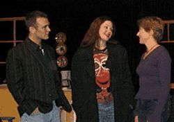 Scott McLean, Elgin Kelley and Hilary Blair in Stop  Kiss.