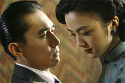 Tony Leung and Tang Wei star in Ang Lee's Lust, Caution.