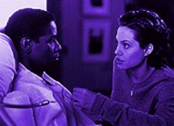 Being Sir Anthony Hopkins and Jodie Foster: Denzel Washington and Angelina Jolie in The Bone Collector.