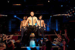 Adam Rodriguez, Kevin Nash, Channing Tatum and Matt Bomer star in Magic Mike.