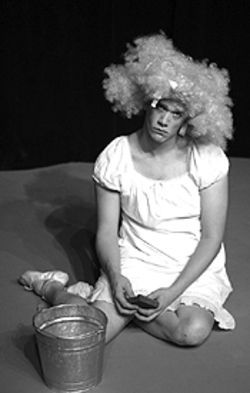 Erik Edborg as Cinderella in Buntport Theater&#039;s 