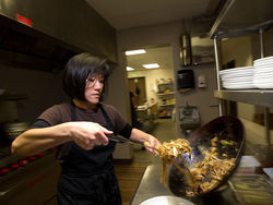 Karen Beckman prepares dishes from her native country at Makan Malaysian Cafe.