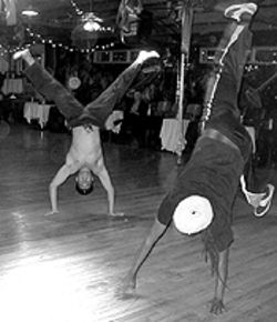 Brazil nuts: Students flip for Baba's capoeira classes at the Mercury Cafe.