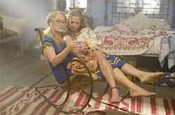 Meryl Streep does the best she can for Amanda Seyfried in Mamma Mia!
