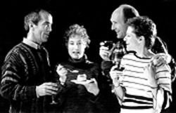 John Hutton, Caitlin O'Connell, Mark Rubald and Annette Helde in Dinner With Friends.