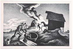 &quot;Haystack,&quot; by Thomas Hart Benton, lithograph.