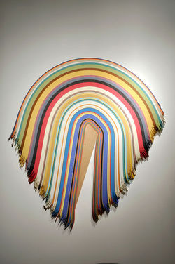 &quot;Untitled 27,&quot; by Derrick Velasquez, cherry and vinyl.