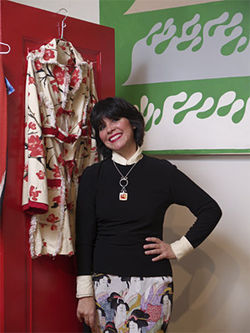 Designer Mona Lucero at her store of the same name.