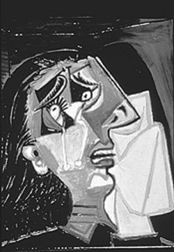 """Weeping Woman,"" by Picasso."
