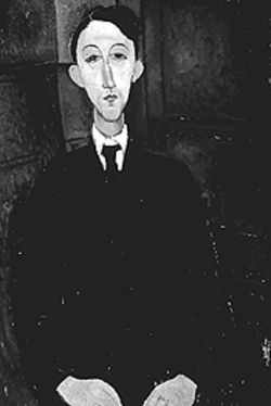 """Portrait of Manuel Humbert,"" by Modigliani."