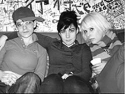 Kathleen Hanna (center) and the ladies of Le Tigre let the fur fly on a new album.