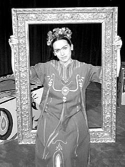 Karen Slack as Frida Kahlo in Painted Bread.