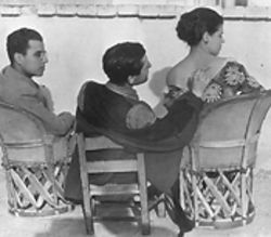 &quot;Frederico Marin, Jean Charlot &amp; Tina Modotti,&quot; by Edward Weston, gelatin silver print.