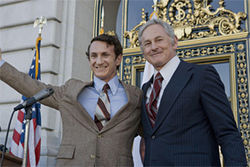 Sean Penn and Victor Garber play Harvey Milk and George Moscone in Milk.
