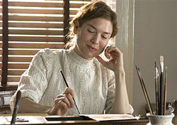 Rene Zellweger is a bit too chipper to be the real Miss Potter. 