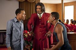 Bow Wow (left), Mike Epps and Brandon T. Jackson star in Lottery Ticket.