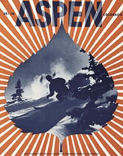 &quot;Ski in Aspen,&quot; by Herbert Bayer, lithograph.