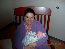 Molly Midyette with her newborn son, Jason Jay Midyette.