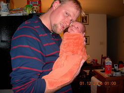 Alex Midyette with Jason at home in Louisville.