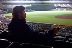 Brad Pitt stars in Moneyball.