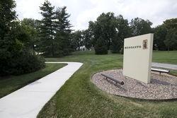 Monsanto's suburban St. Louis headquarters hides behind trees and security checkpoints. Its business hides behind lawyers, lobbying and patents.