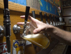 A pint being filled at the tap at Mountain Sun Brewery & Pub. View a full slideshow from Mountain Sun Pub & Brewery in Boulder.