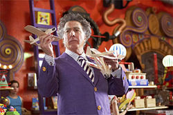 Dustin Hoffman's a toy giant in Mr. Magorium's Wonder Emporium.