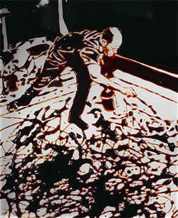 """Action Photo, Namuth of Pollock,"" by Vik Muniz, Cibachrome print."