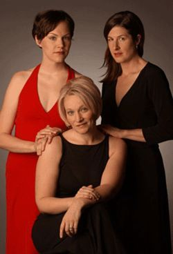 Laura Norman (from left), Megan Van De Hey and 