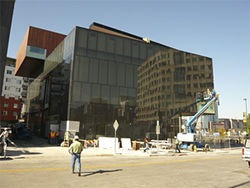 The Museum of Contemporary Art/Denver, designed by David Adjaye, nears completion.