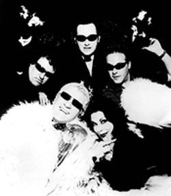 Neat, neat, neat: Dave Vanian (center), with the Damned in its current incarnation.