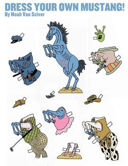"Download your own ""Mustang"" paper doll."