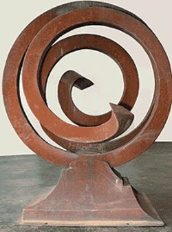 &quot;Convolution,&quot; by Bill Burgess, welded-steel sculpture.